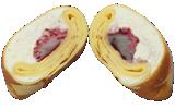 ブルーベリーチーズクレープ